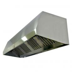 Campana extractora a pared con plenum para extractor a distancia 2500x900